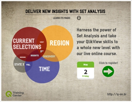 QlikView Set Analysis online course by QlikOn Training Center